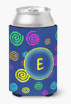 Buy this Letter E Initial Monogram - Blue Swirls Can or Bottle Beverage Insulator Hugger