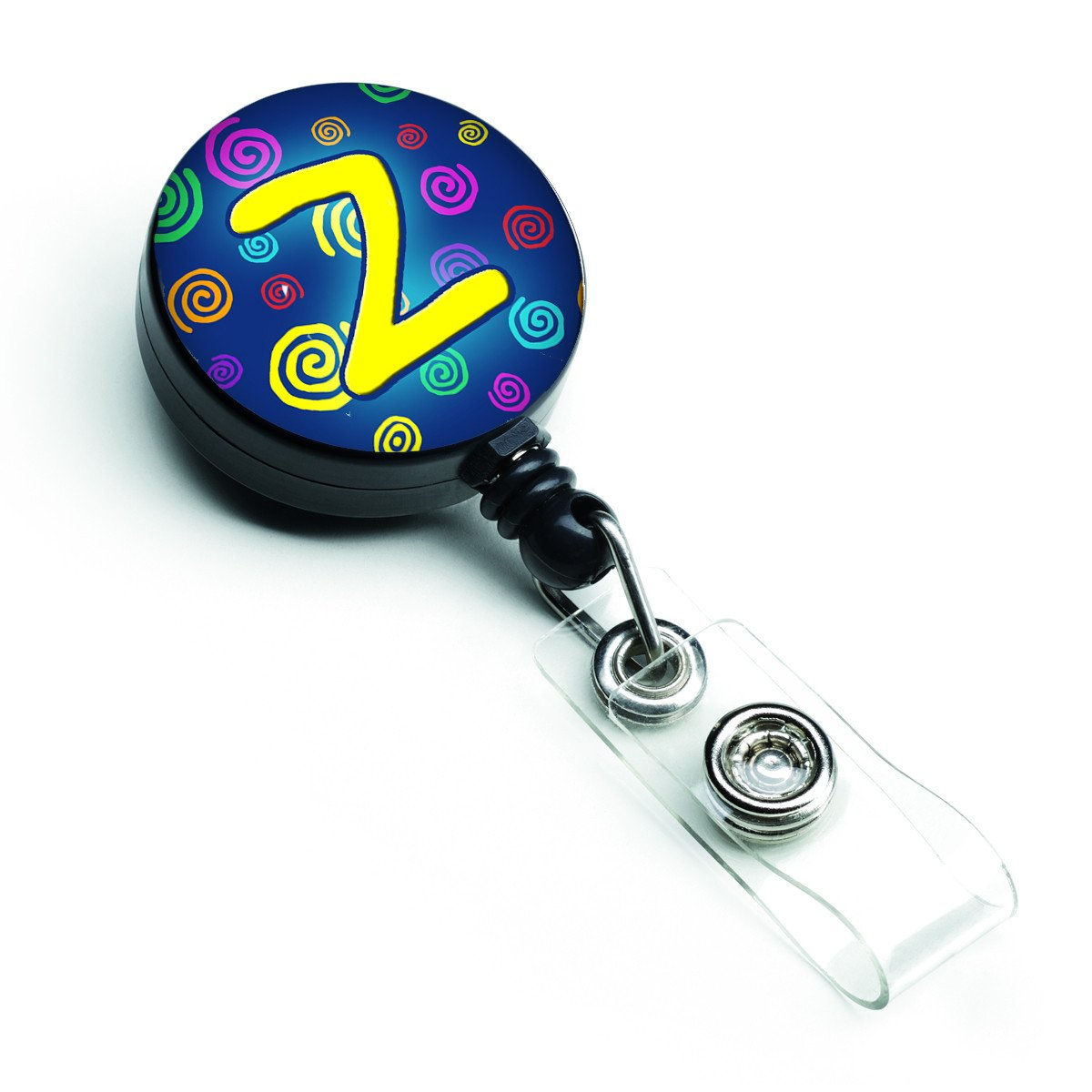 Letter Z Initial Monogram - Blue Swirls Retractable Badge Reel CJ1011-ZBR by Caroline's Treasures