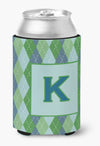 Buy this Letter K Initial Monogram - Blue Argoyle Can or Bottle Beverage Insulator Hugger