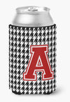 Letter A Monogram - Houndstooth Can or Bottle Beverage Insulator Hugger CJ1021 by Caroline's Treasures