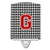 Letter G Monogram - Houndstooth Black Ceramic Night Light CJ1021-GCNL by Caroline's Treasures