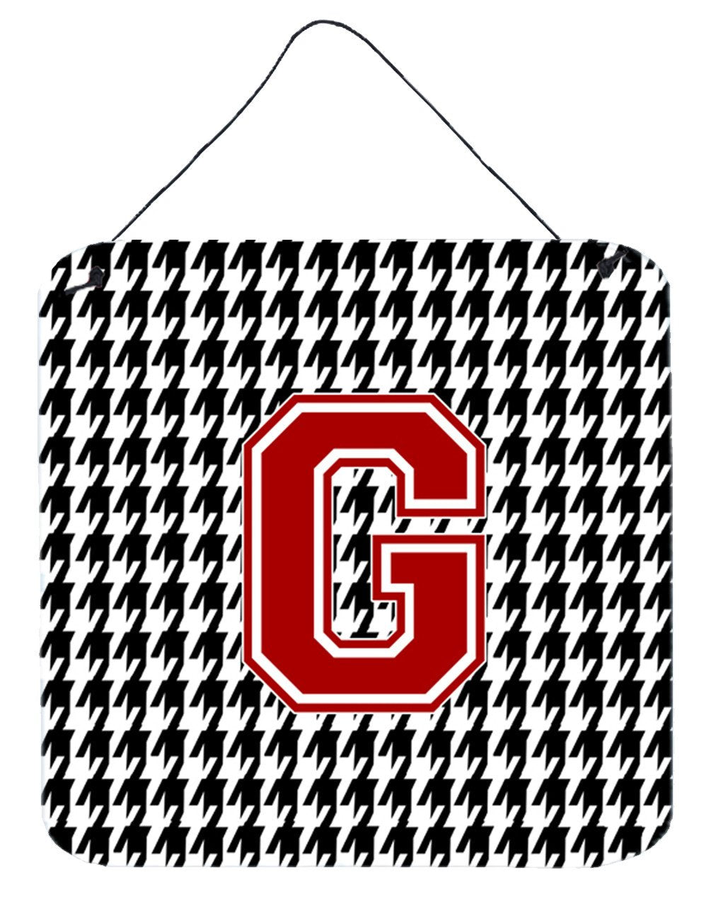 Monogram - Initial G Houndstooth Wall or Door Hanging Prints CJ1021 by Caroline's Treasures