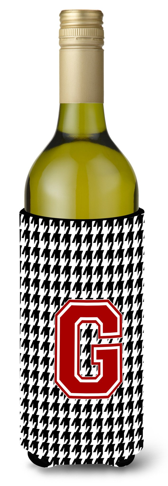 Monogram - Houndstooth  Initial  G Wine Bottle Beverage Insulator Beverage Insulator Hugger by Caroline's Treasures