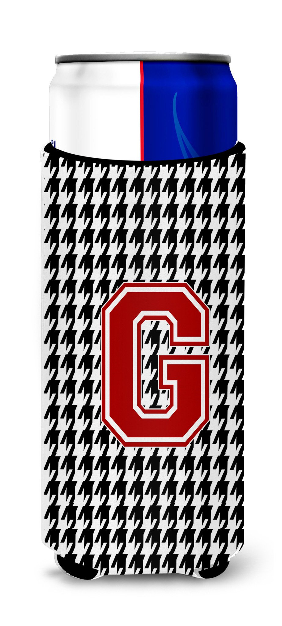 Monogram - Houndstooth  Letter G Ultra Beverage Insulators for slim cans CJ1021-GMUK by Caroline's Treasures