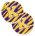 Letter K Monogram - Tiger Stripe - Purple Gold Set of 2 Cup Holder Car Coasters CJ1022-KCARC by Caroline's Treasures