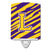 Buy this Letter L Monogram - Tiger Stripe - Purple Gold Ceramic Night Light CJ1022-LCNL