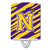 Buy this Letter N Monogram - Tiger Stripe - Purple Gold Ceramic Night Light CJ1022-NCNL