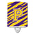 Buy this Letter P Monogram - Tiger Stripe - Purple Gold Ceramic Night Light CJ1022-PCNL