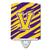 Buy this Letter V Monogram - Tiger Stripe - Purple Gold Ceramic Night Light CJ1022-VCNL