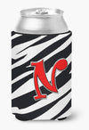Buy this Letter N Initial Monogram - Zebra Red Can or Bottle Beverage Insulator Hugger