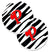 Buy this Monogram Initial P Zebra Red  Set of 2 Cup Holder Car Coasters CJ1024-PCARC
