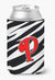 Buy this Letter P Initial Monogram - Zebra Red Can or Bottle Beverage Insulator Hugger