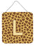 Letter L Initial Monogram - Giraffe Aluminium Metal Wall or Door Hanging Prints by Caroline's Treasures