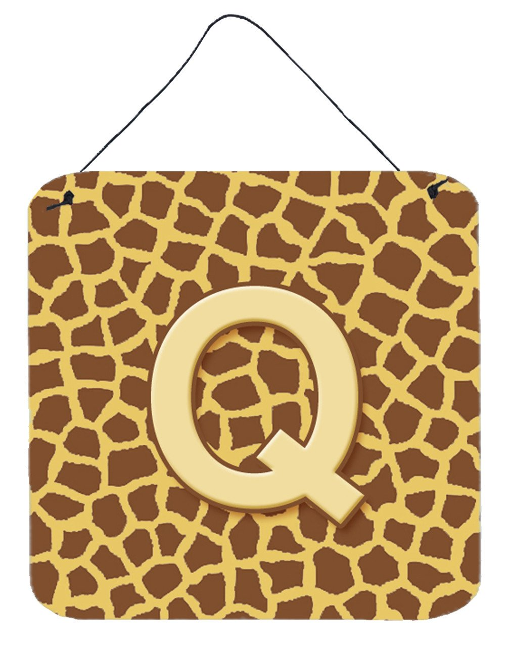 Buy this Letter Q Initial Monogram - Giraffe Aluminium Metal Wall or Door Hanging Prints