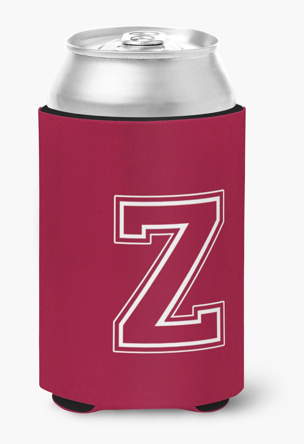 Buy this Letter Z Initial Monogram - Maroon and White Can or Bottle Beverage Insulator Hugger