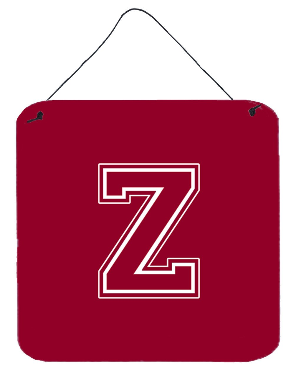 Buy this Letter Z Initial Monogram - Maroon and White Wall or Door Hanging Prints