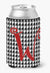 Letter W Initial Monogram - Houndstooth Black Can or Bottle Beverage Insulator Hugger by Caroline's Treasures