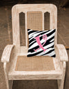 Monogram Initial X Zebra Stripe and Pink Decorative Canvas Fabric Pillow CJ1037 by Caroline's Treasures