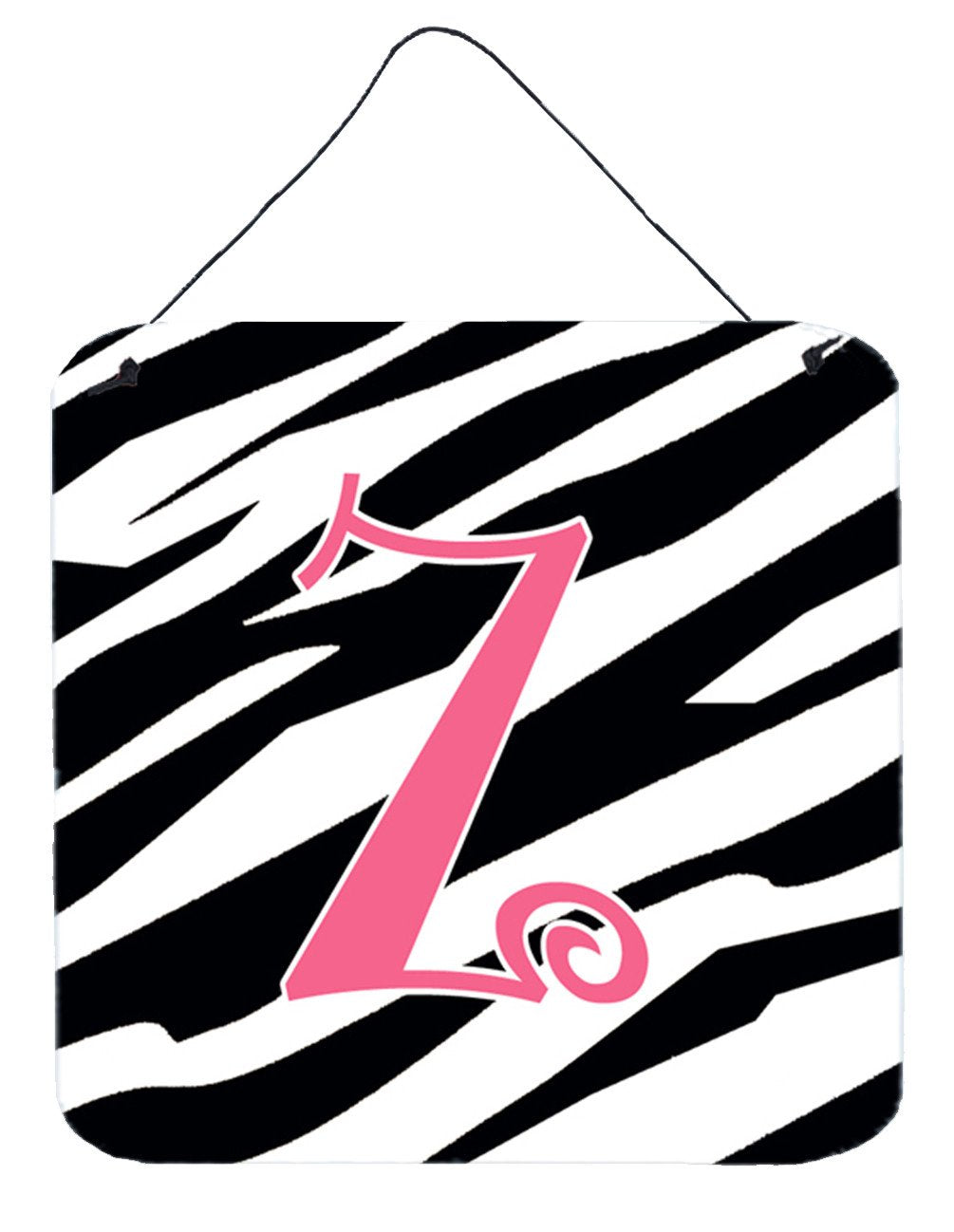Buy this Letter Z Initial  Zebra Stripe and Pink Wall or Door Hanging Prints