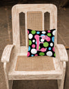 Monogram Initial E Polkadots and Pink Decorative   Canvas Fabric Pillow CJ1038 - the-store.com