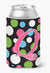 Buy this Letter Q Initial Monogram - Polkadots and Pink Can or Bottle Beverage Insulator Hugger