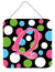 Buy this Letter Q Initial Monogram - Polkadots and Pink Wall or Door Hanging Prints