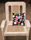 Monogram Initial U Polkadots and Pink Decorative   Canvas Fabric Pillow CJ1038 - the-store.com