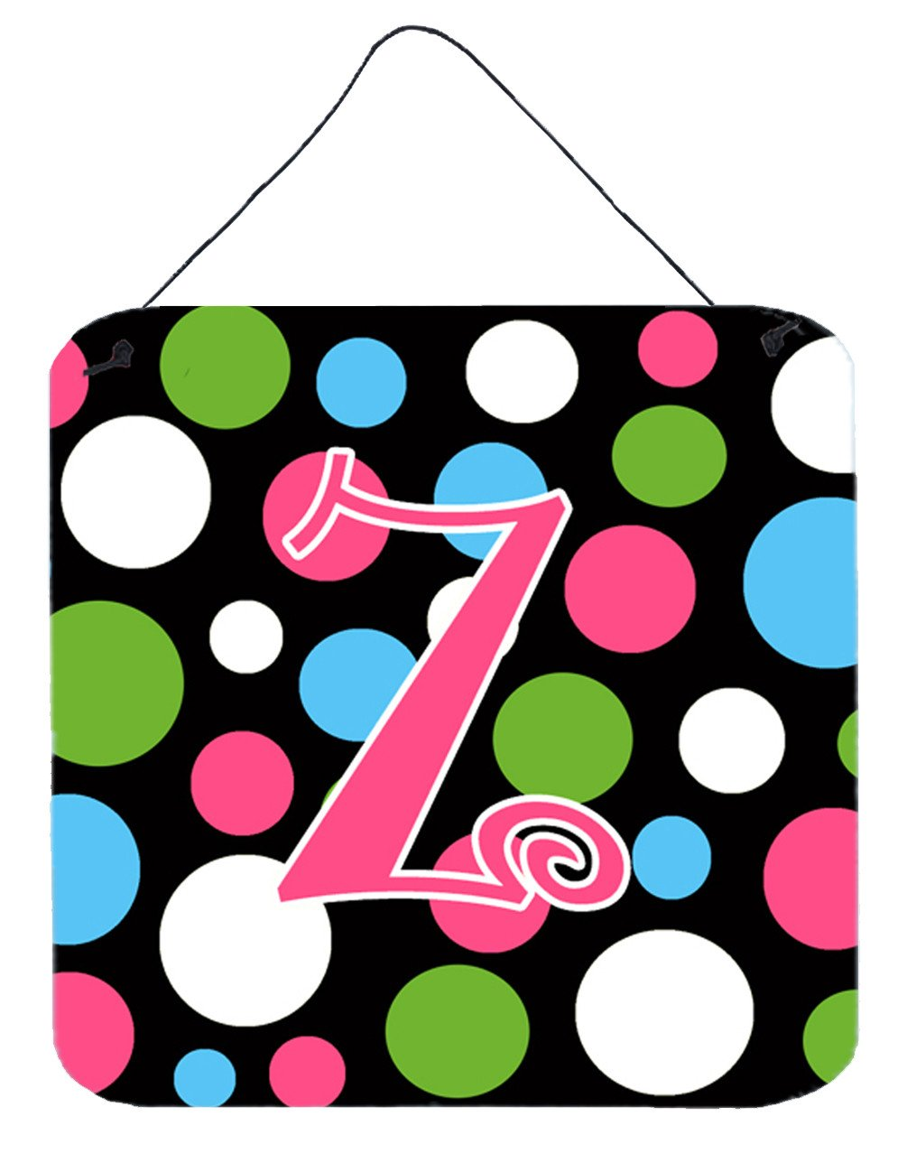 Buy this Letter Z Initial Monogram - Polkadots and Pink Wall or Door Hanging Prints