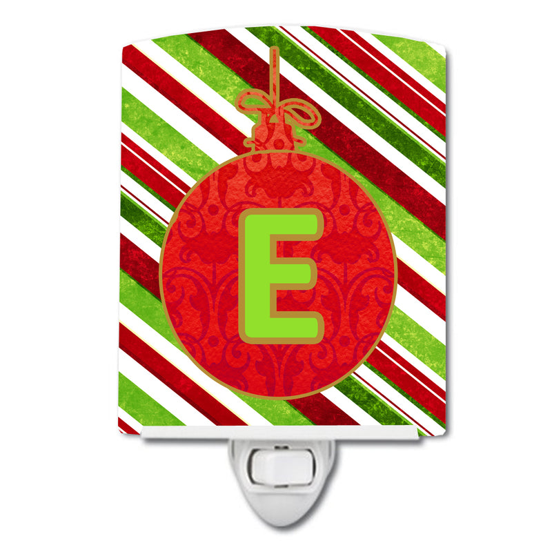 Buy this Christmas Oranment Holiday Initial Letter E Ceramic Night Light CJ1039-ECNL