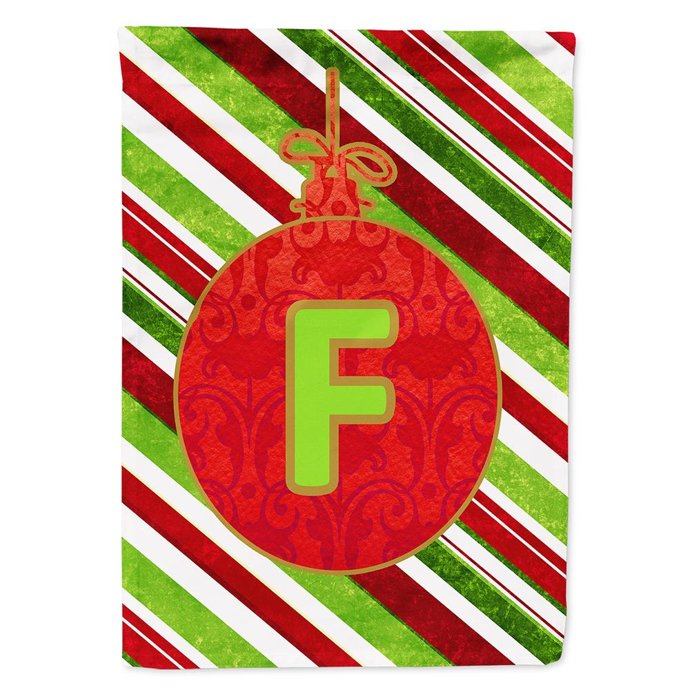 Buy this Christmas Oranment Holiday Letter F Monogram Initial Flag Garden Size CJ1039