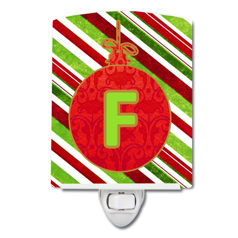 Buy this Christmas Oranment Holiday Initial Letter F Ceramic Night Light CJ1039-FCNL