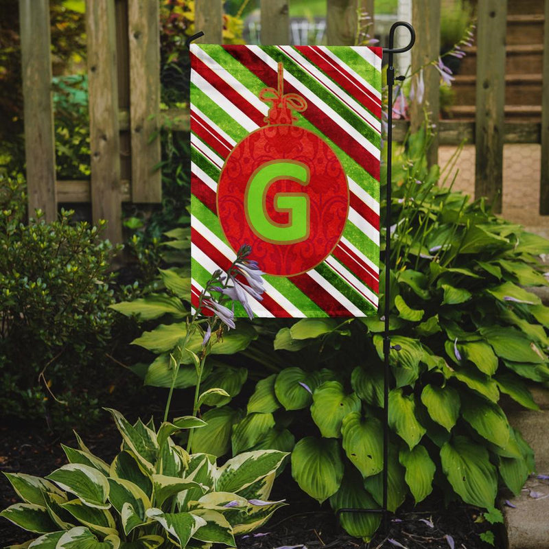 Buy this Christmas Oranment Holiday Letter G Monogram Initial Flag Garden Size CJ1039