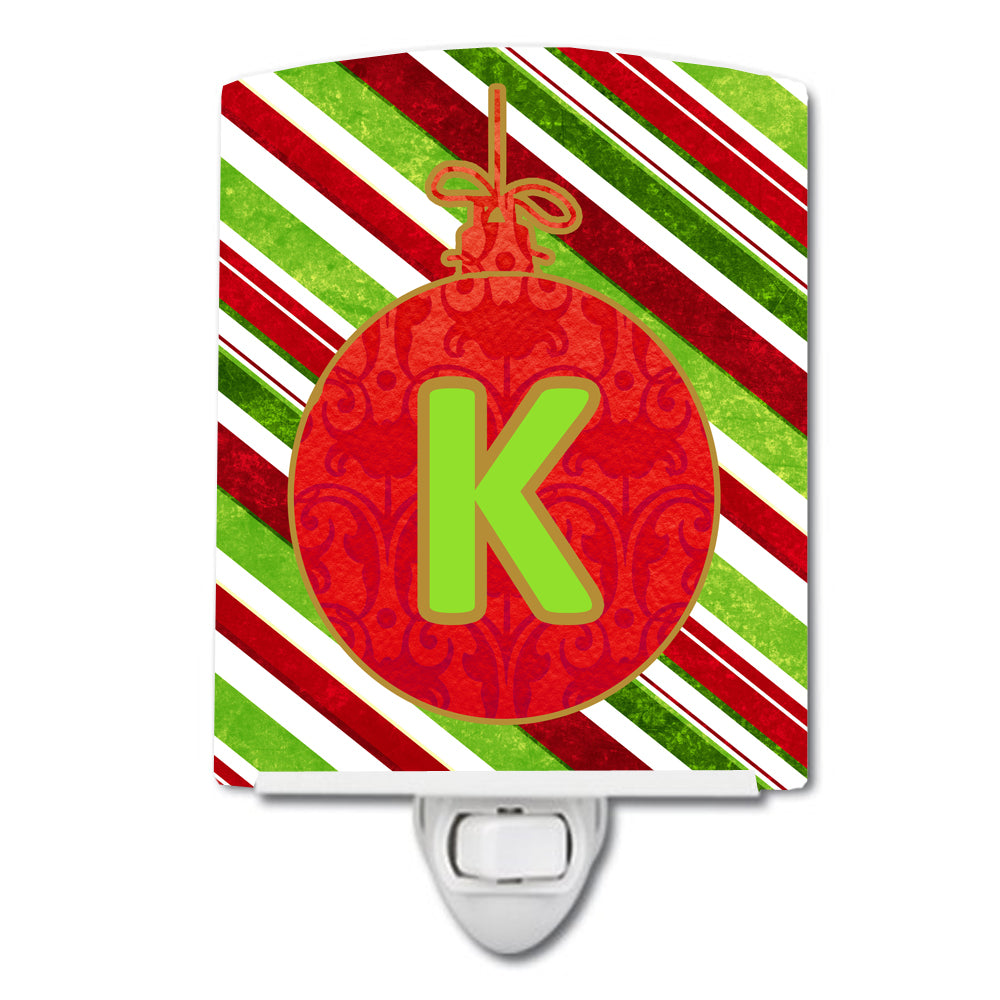 Buy this Christmas Oranment Holiday Initial Letter K Ceramic Night Light CJ1039-KCNL