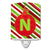 Buy this Christmas Oranment Holiday Initial Letter N Ceramic Night Light CJ1039-NCNL