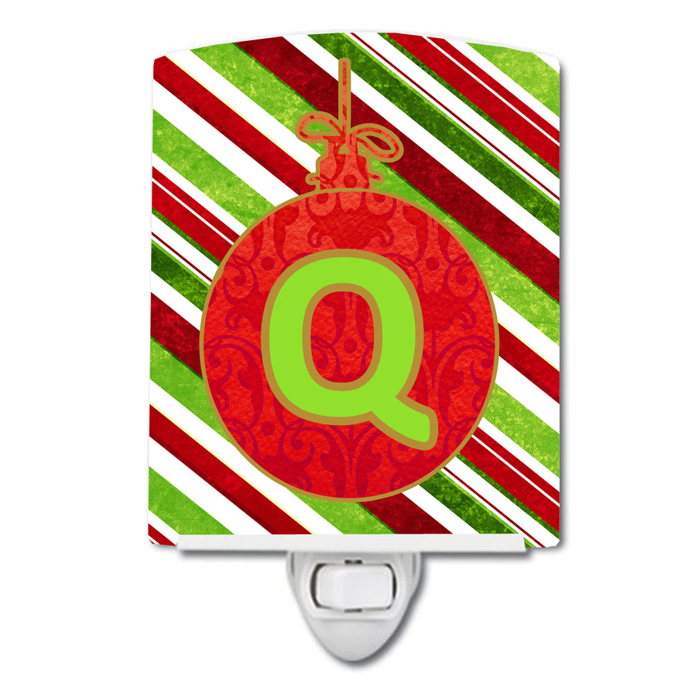 Buy this Christmas Oranment Holiday Initial Letter Q Ceramic Night Light CJ1039-QCNL