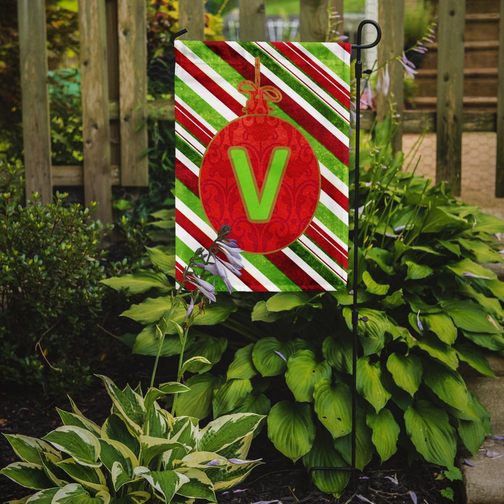 Buy this Christmas Oranment Holiday Letter V Monogram Initial Flag Garden Size CJ1039