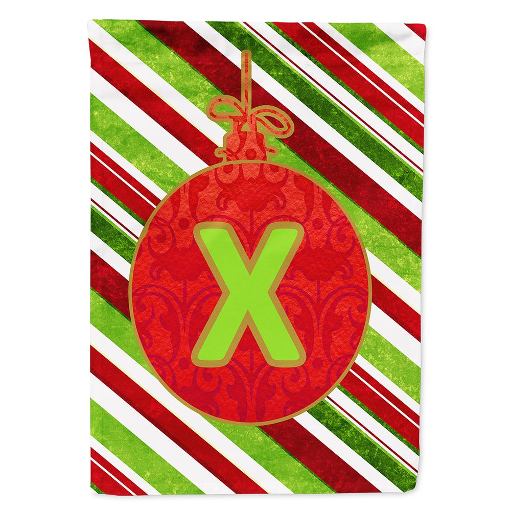 Buy this Christmas Oranment Holiday Letter X Monogram Initial Flag Garden Size CJ1039