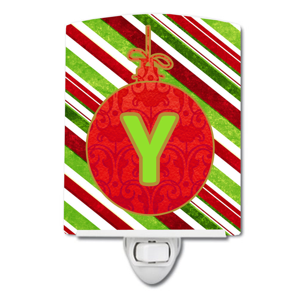 Buy this Christmas Oranment Holiday Initial Letter Y Ceramic Night Light CJ1039-YCNL