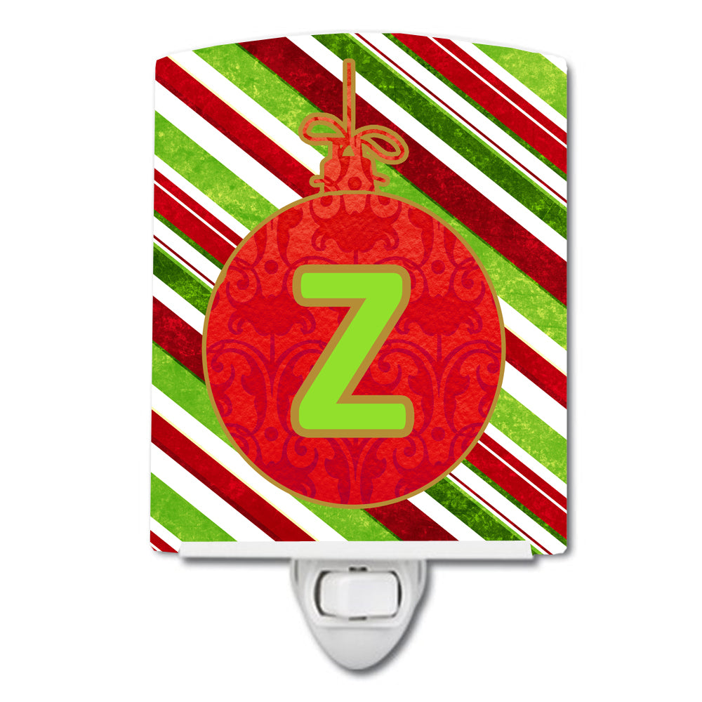 Buy this Christmas Oranment Holiday Initial Letter Z Ceramic Night Light CJ1039-ZCNL