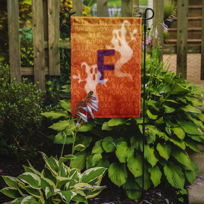 Buy this Halloween Ghost Letter F Monogram Initial Flag Garden Size CJ1040