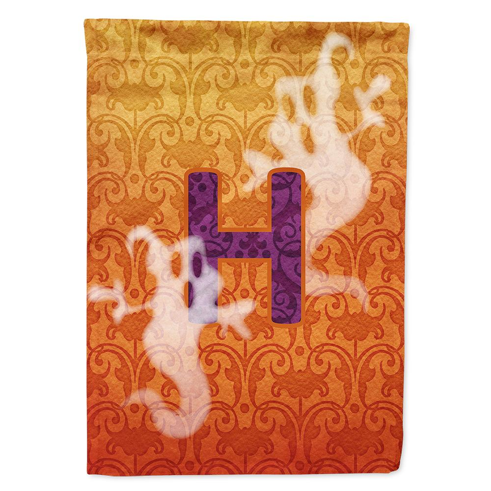 Halloween Ghost Letter H Monogram Initial Flag Garden Size CJ1040 by Caroline's Treasures