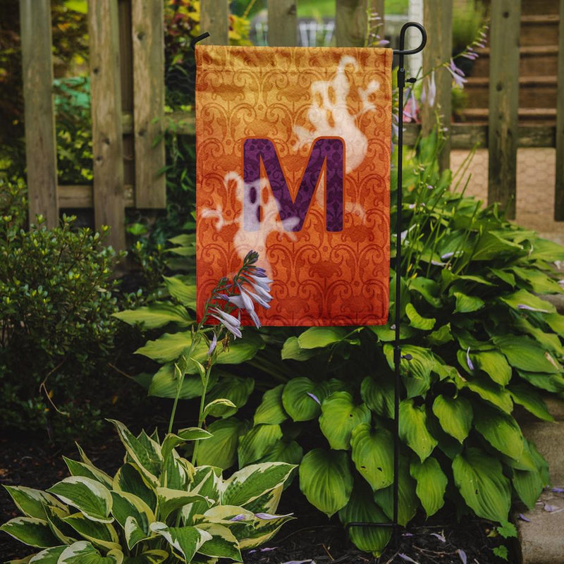 Buy this Halloween Ghost Letter M Monogram Initial Flag Garden Size CJ1040