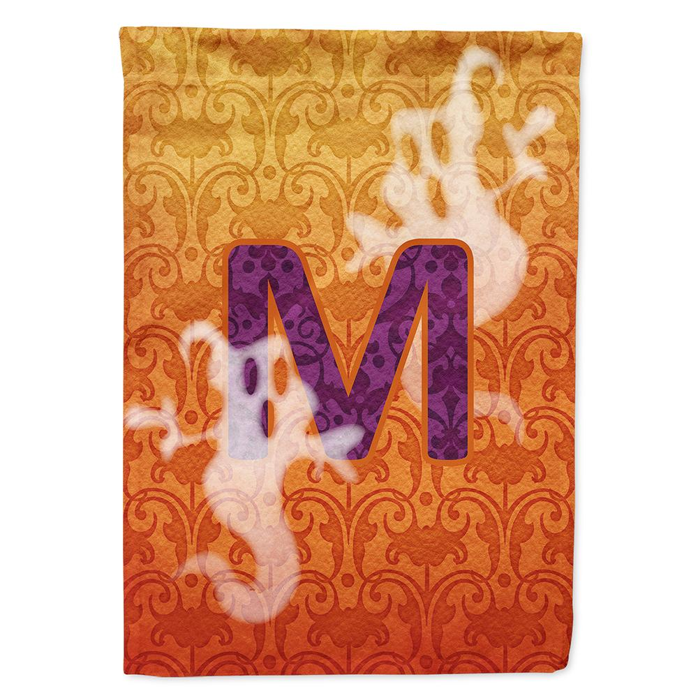 Halloween Ghost Letter M Monogram Initial Flag Garden Size CJ1040 by Caroline's Treasures
