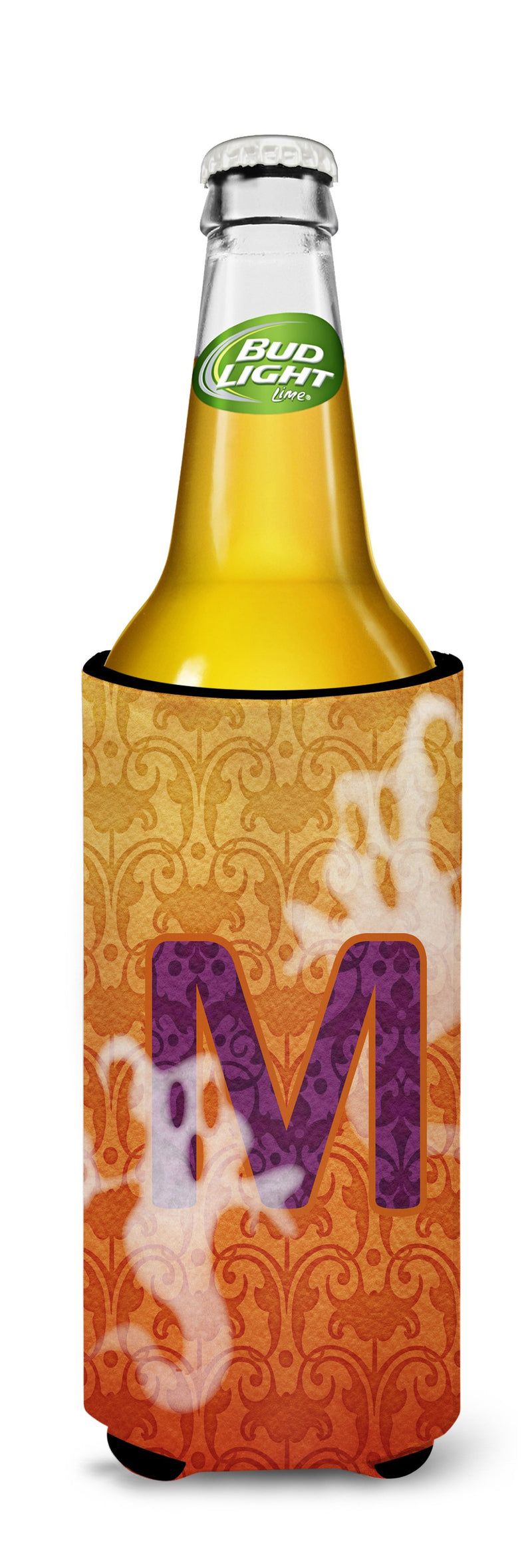 Buy this Halloween Ghosts Monogram Initial Letter M Ultra Beverage Insulators for slim cans CJ1040-MMUK