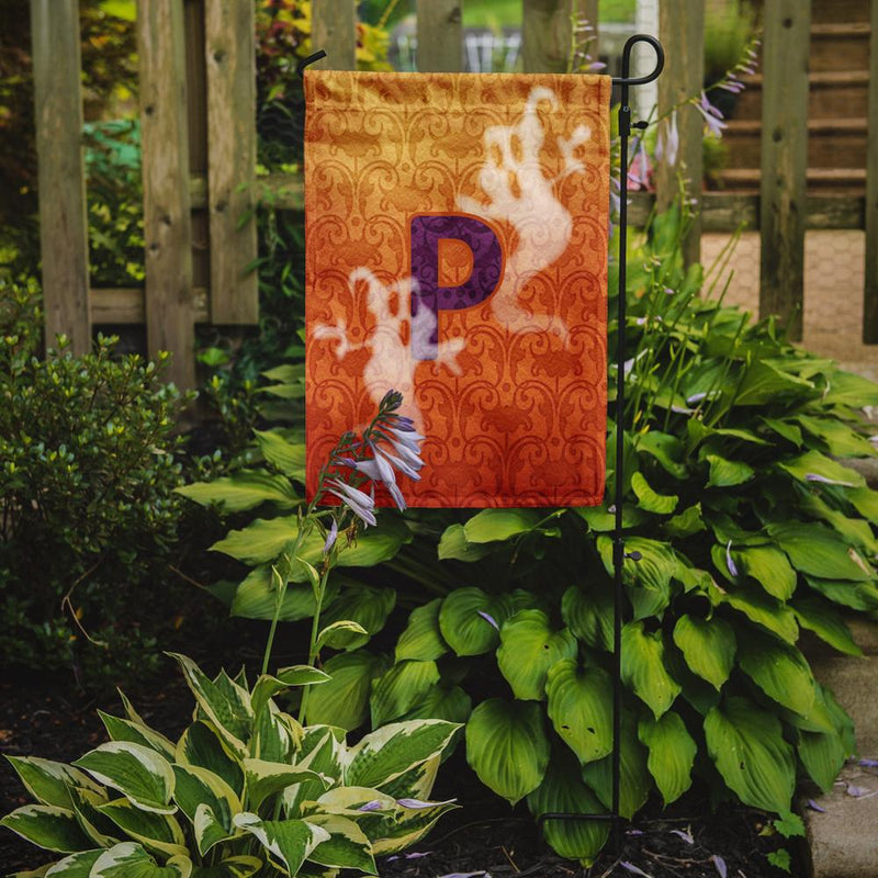 Buy this Halloween Ghost Letter P Monogram Initial Flag Garden Size CJ1040