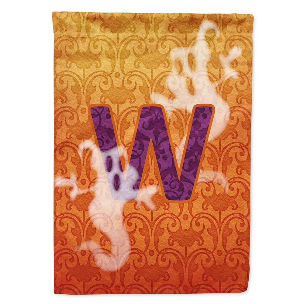 Buy this Halloween Ghost Letter W Monogram Initial Flag Garden Size CJ1040