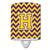 Letter H Chevron Purple and Gold Ceramic Night Light CJ1041-HCNL by Caroline's Treasures