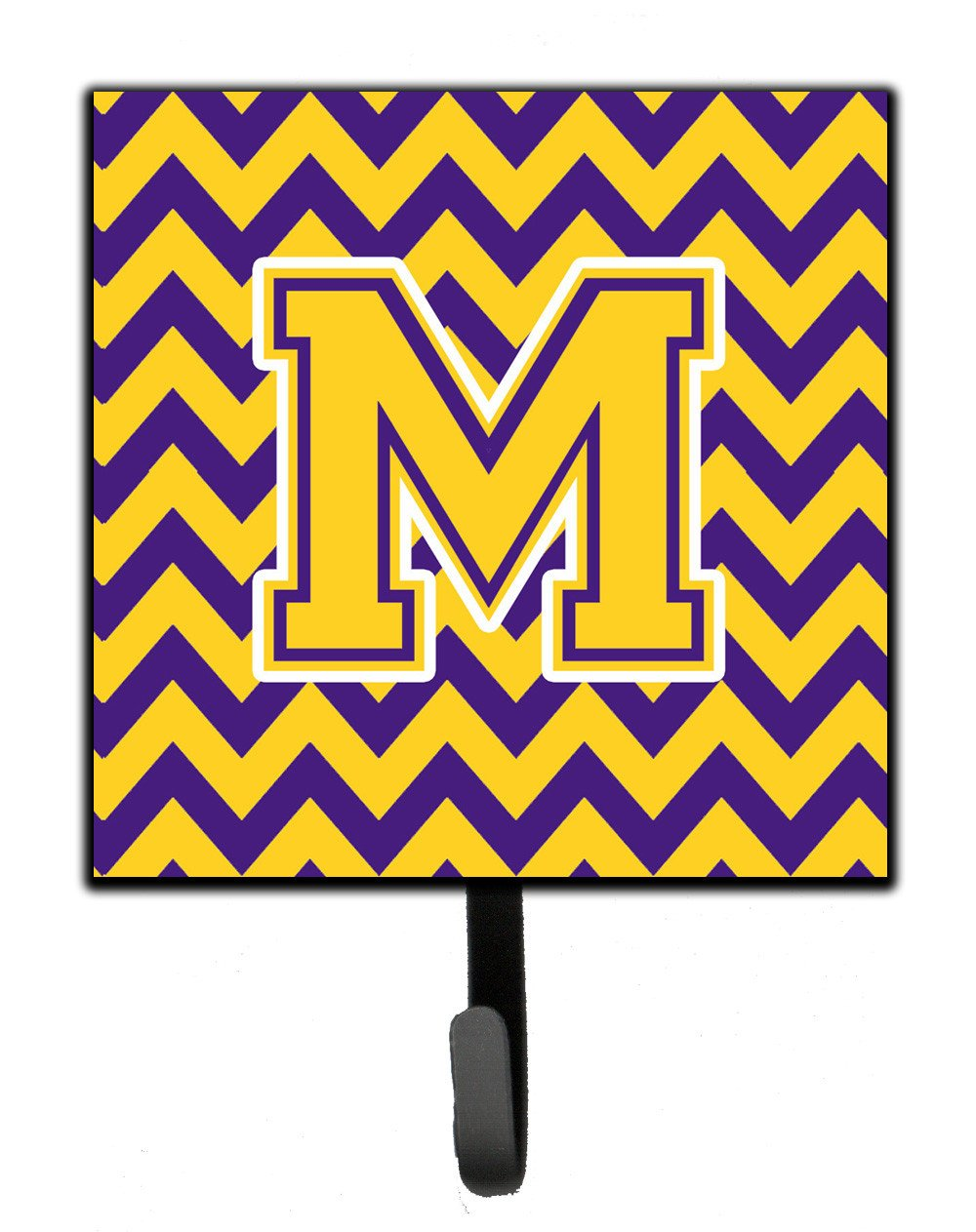Letter M Chevron Purple and Gold Leash or Key Holder CJ1041-MSH4 by Caroline's Treasures