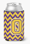 Letter O Chevron Purple and Gold Can or Bottle Hugger CJ1041-OCC by Caroline's Treasures