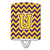 Buy this Letter U Chevron Purple and Gold Ceramic Night Light CJ1041-UCNL